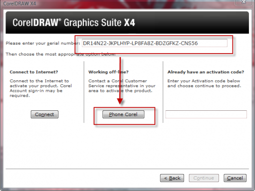 corel draw serial number x5 activation code